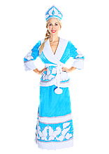 Карнавальний костюм Снігуронька з бубонами