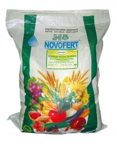 Добриво для пасльонових (2 фаза) NPK 5-18-28+8CaO+0,4 B+МЕ 25 кг, Новоферт