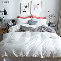 Комплект постельного белья сатин однотонный White
