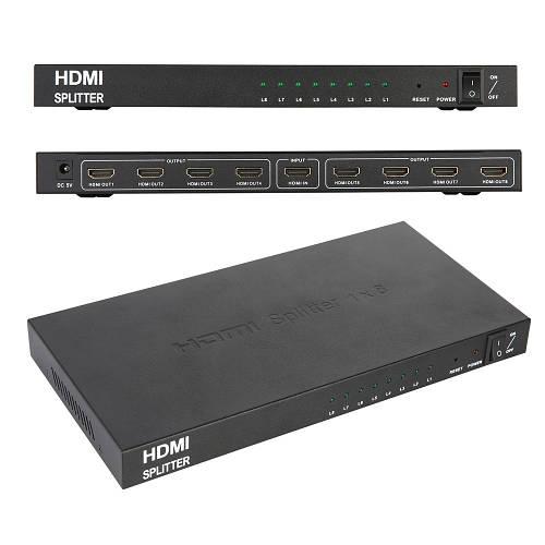 Сплиттер HDMI на 8 портов, разветвитель HDMI 1x8, HDTV PC 3D DVD Xbox PS4 PS3 Blu-ray
