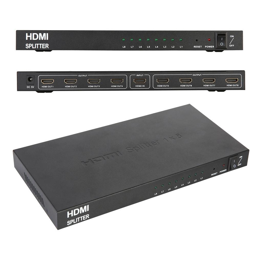 Сплиттер HDMI на 8 портов, разветвитель HDMI 1x8, HDTV PC 3D DVD Xbox