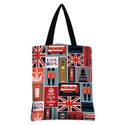 Большая сумка Оригинал с принтом Англия
