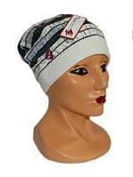 Стильная удобная шапка из кашемира на флисе, осень-зима
