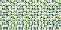 """Листовая панель ПВХ Регул мозаика """"Голубая роза"""" 0,4мм 957*480мм"""