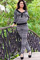 Стильный женский костюм Д712 серый