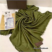 Платок Луи Витон цвет изумрудный палантин реплика