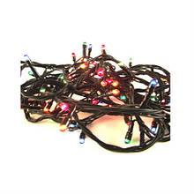 Новогодняя Гирлянда LED 100 Лампочек (Черный Провод) мультицвет