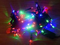 Новогодняя Гирлянда LED 200 Лампочек (Черный Провод) мультицвет