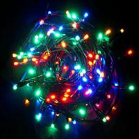 Гирлянда светодиодная LED 400 лампочек мультиколор (белый провод)