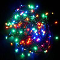 Гирлянда светодиодная LED 400 лампочек мультиколор (белый провод), фото 2
