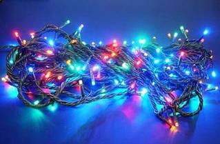 Гирлянда светодиодная LED 300 лампочек мультиколор