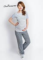 Серые удобные штаны для беременных Comfort