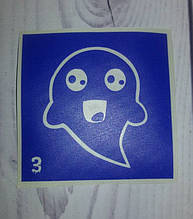 трафарет надпись для биотату Halloween 3