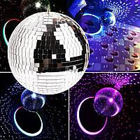 Зеркальный диско шар 25 см