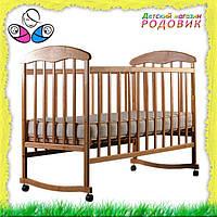 Детская кроватка Наталка Ясень  без лака