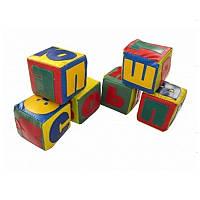 Детские мягкие кубики Алфавит 10х10х10 см в кожзаме