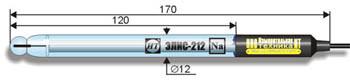 Электрод натрий-селективный ЭЛИС-212Na промышленно-лабораторный