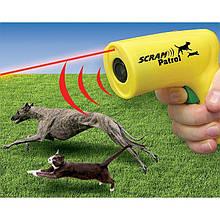 Ультразвуковой отпугиватель собак, кошек, грызунов с лазерным прицелом Animal chaser Scram Patrol