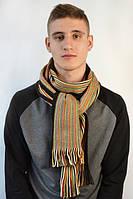 Полосатый зимний мужской шарф
