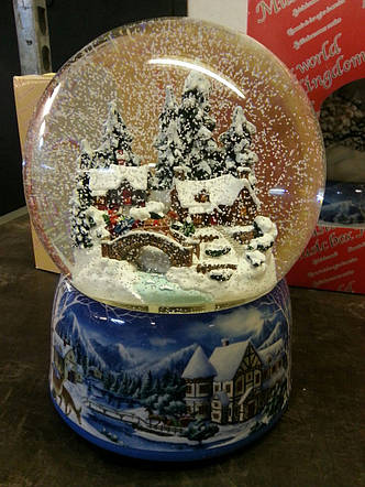 """Снігова куля """"Зимовий містечко"""", фото 2"""