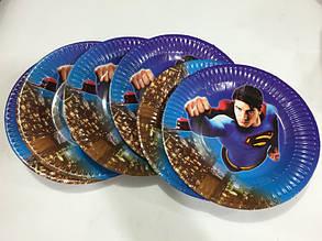 Тарелки праздничные пластиковые для дня рождения Человек Паук набор 6 шт