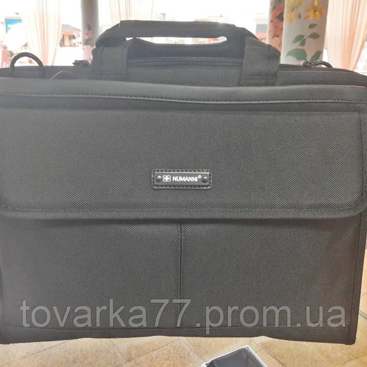 d992ab3b466d Мужской тканевый портфель Numanni черный 40×30×8см - Интернет-магазин