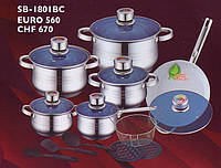 Набор посуды SWISS&BOCH 1801BC 18 предметов