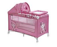Манеж Bertoni Nanny 2 layers plus pink kitten