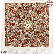 Кремовый павлопосадский платок Чудесные сны, фото 2