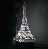 3D Ночник Paris: Оптический обман, превращающий 2D светильник в 3D