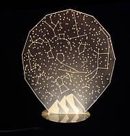 3D Ночник Звездное небо: Оптический обман, превращающий 2D светильник в 3D