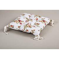 Подушка на стул Lotus Limoges с завязками розовый 45*45