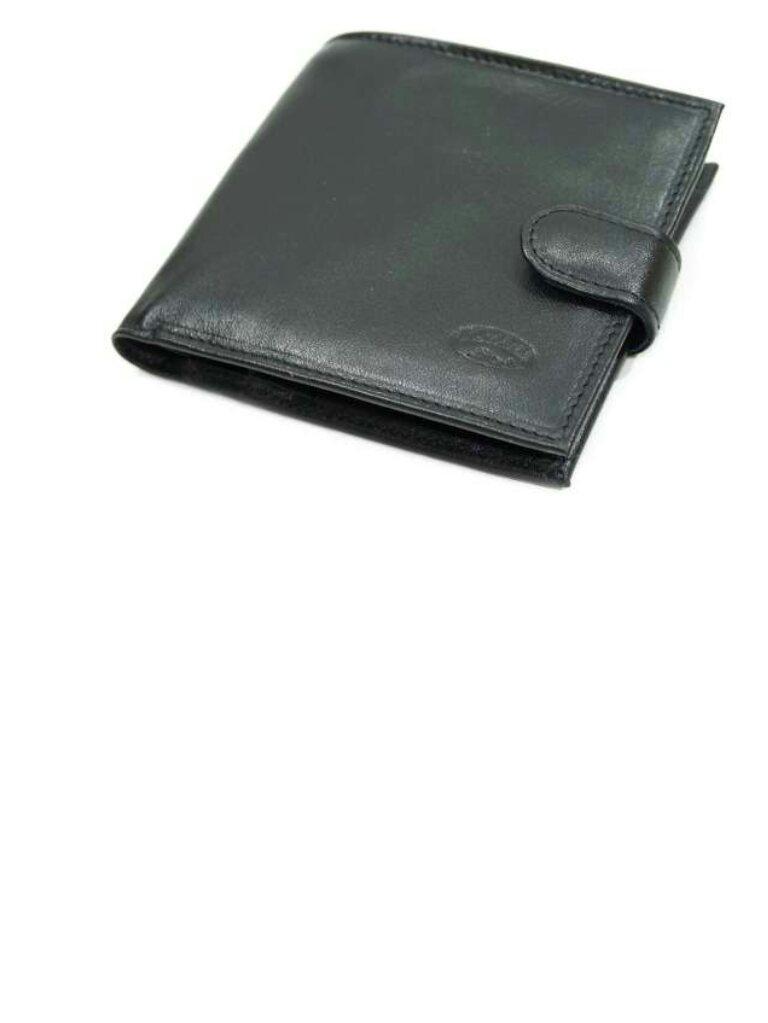 Чоловічий шкіряний гаманець катана чорний 553036