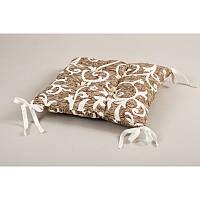 Подушка на стул Lotus Jaco с завязками кофе 45*45