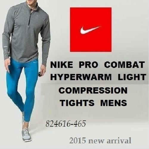 25bd5869 Термо-компрессионные лосины Nike Pro Combat Men's Hyperwarm Light  Compression Tights Leggings