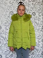 Куртка зимняя Бантик (7 цв), детская куртка, пуховик детский, куртка для девочки