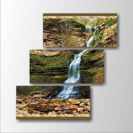 "Модульная картина ""Водопад в горах"""