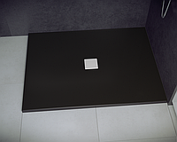 Душевой прямоугольный поддон NOX 100х90х3.5 черный ultraslim BESCO PMD PIRAMIDA