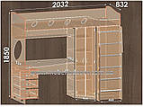 Двухъярусная кровать чердак Эверест (Континент) 2032х1032х1850мм, фото 6