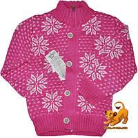Детский свитер на молнии и пуговицах, теплая вязка, для девочки 1-3 года (3 ед в уп)