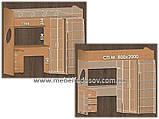 Двухъярусная кровать чердак Эверест (Континент) 2032х1032х1850мм, фото 9