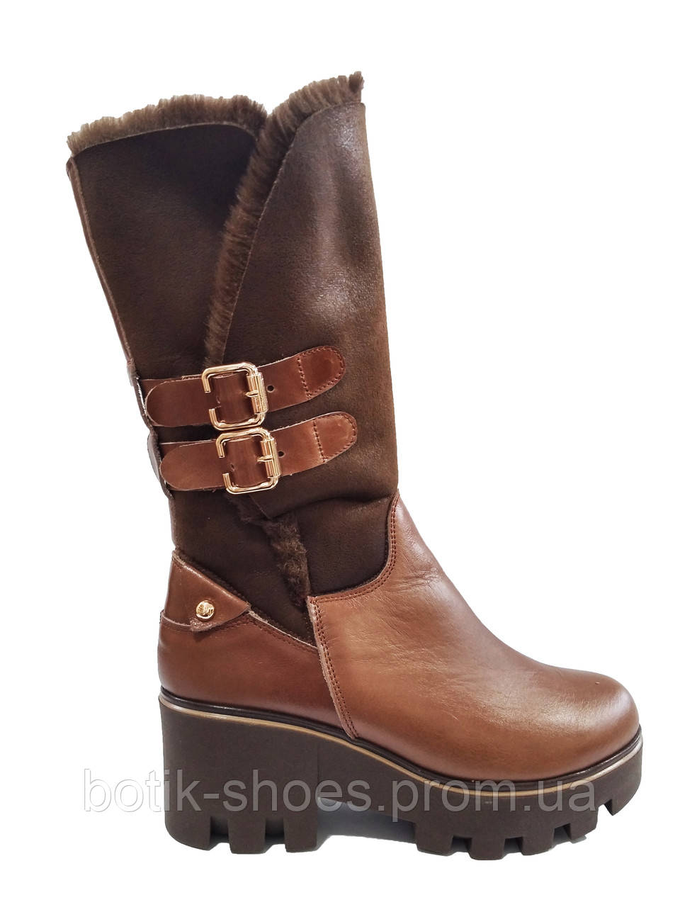 fd597c37d Сапоги зимние женские кожаные на платформе трактор M.KraFVT 3212 -  интернет-магазин обуви