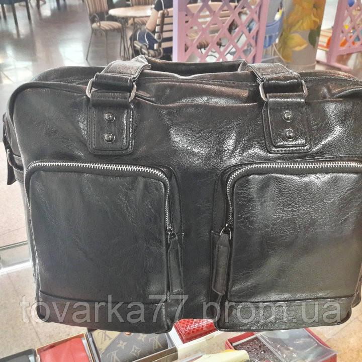 00e5d11769ff Мужская дорожная сумка эко кожа черная через плечо - Интернет-магазин