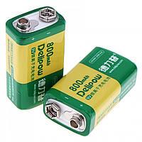 Delipow аккумулятор крона 9В 800 мАч CR-9V 6F22 6LR61
