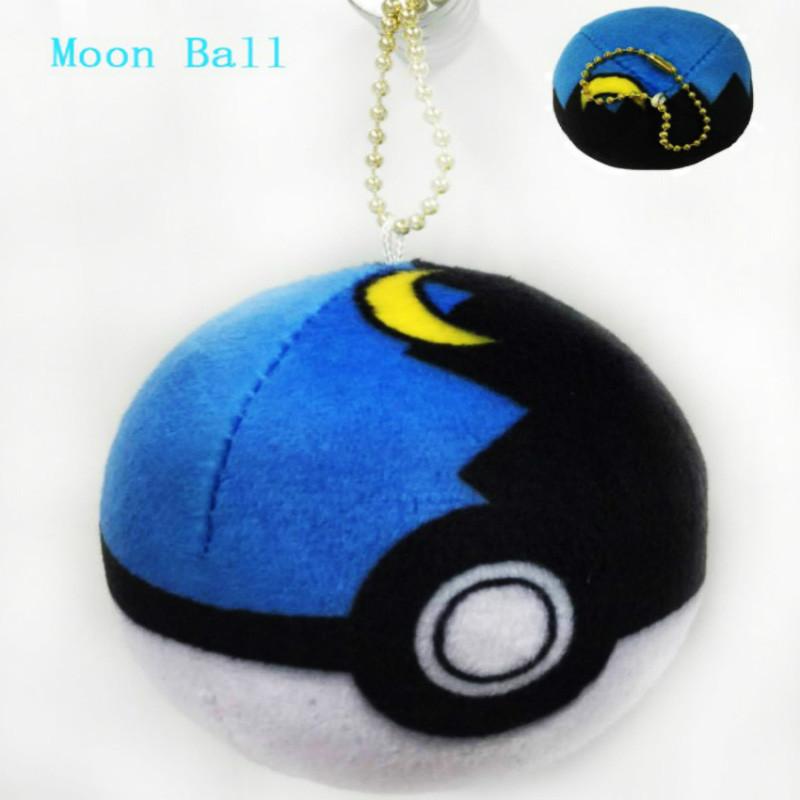 Брелок Pokemon Плюшевые Покеболы 8 см.