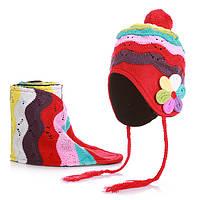 Шапочка детская теплая и шарфик для девочки, фото 1