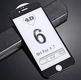 4D захисне скло для iPhone 6 / 6S - Black, фото 2