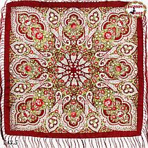Бордовый павлопосадский платок Чудесные сны 1, фото 2