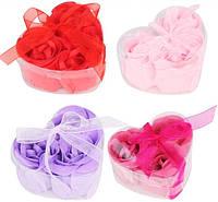 Мыло в форме бутона розы (набор 3 шт)