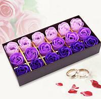 Мыло в форме бутона розы подарочный набор